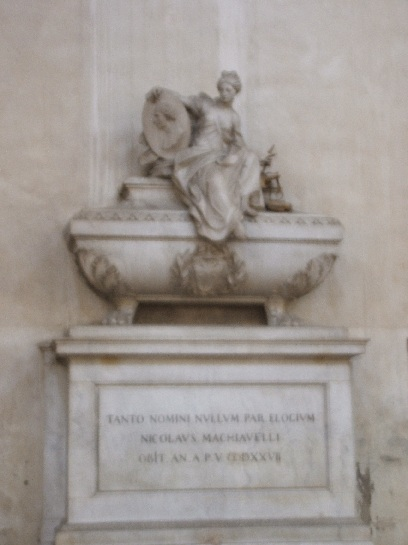 The Tomb of Machiavelli, Florence, Italy