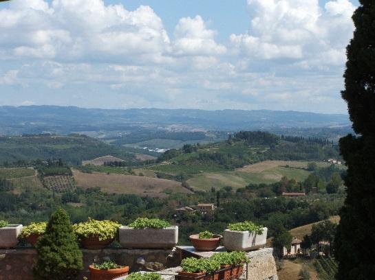 Countryside around San Gimignano, Tuscany, Italy