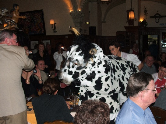 Swiss cow at the Highlight Dinner, Lucerne, Switzerland