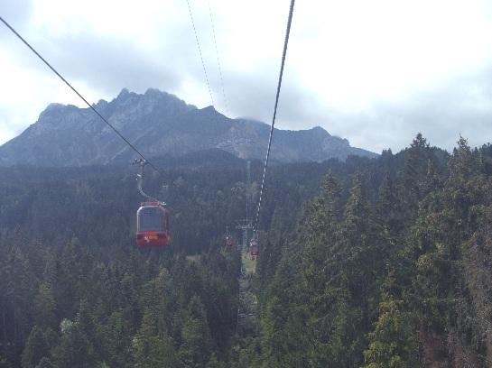Sky rail up Mount Pilatus, Lucerne, Switzerland