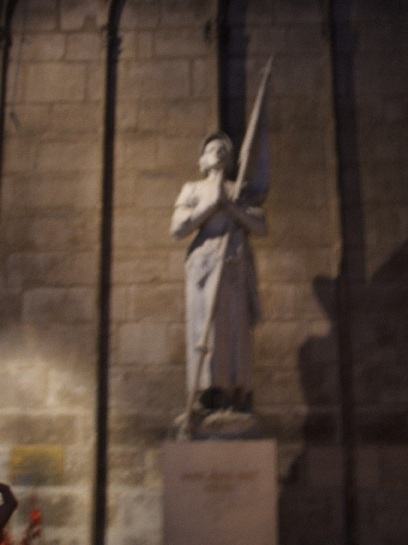 Jean de Arc, Inside Notre Dame, Paris, France