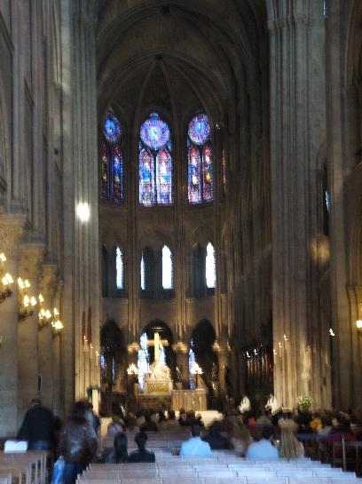 Inside Notre Dame, Paris, France