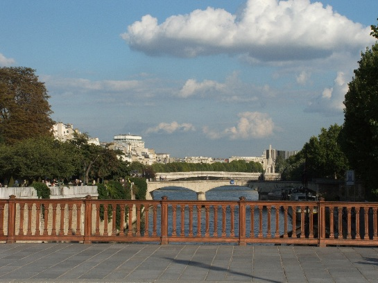 Bridges over the Seine at Notre Dame, Paris, France