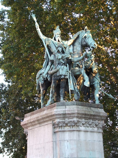 Statue of Charlemagne, Notre Dame, Paris, France