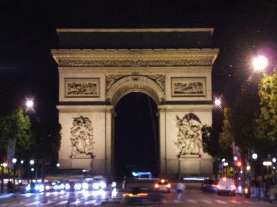 The Arc de Triomphe, on the Champs Elysees, Paris, France