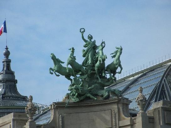 Statues in Paris, France