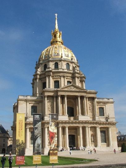 Outside Napoleon's Tomb, Paris, France