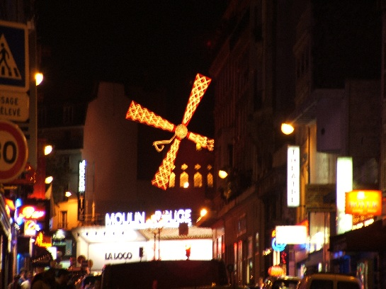 Outside the Moulin Rouge, Paris, France