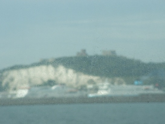 Dover Castle above the White Cliffs of Dover, Dover, England
