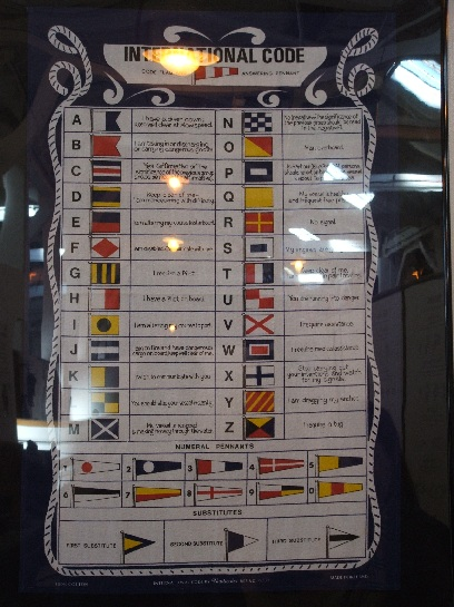 Signal Flags on H.M.S. Warrior, Portsmouth, England