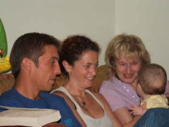 Joe, Jilly, Greta and a bub (Ruby or Nancy), Hastings England