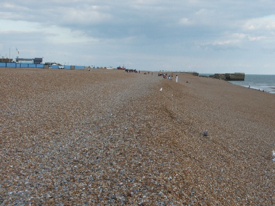 Pebbly beach, Hastings, England
