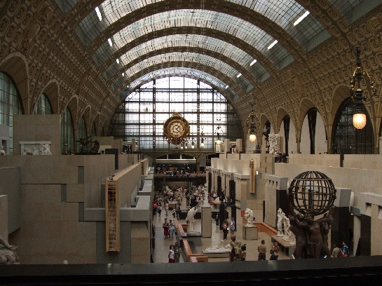 Foyer of the Musee D'Orsay, Paris, France