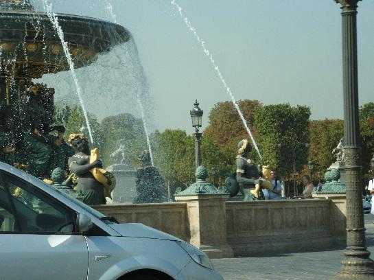 Fountain in Paris, France