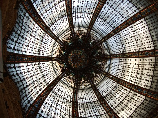Paris' biggest department store ceiling display, Paris, France