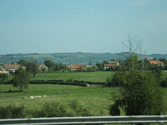 Travelling south through the countryside of France