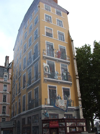 Mural on a Building in Lyon, France