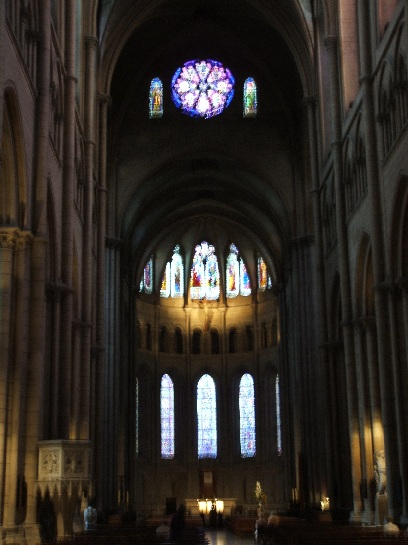 Inside the Cathedral in Lyon, France