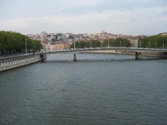 Bridge over the river in Lyon, France