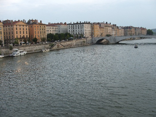 Bridge over the river in Lyon, France