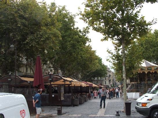 The markets in Avignon, France