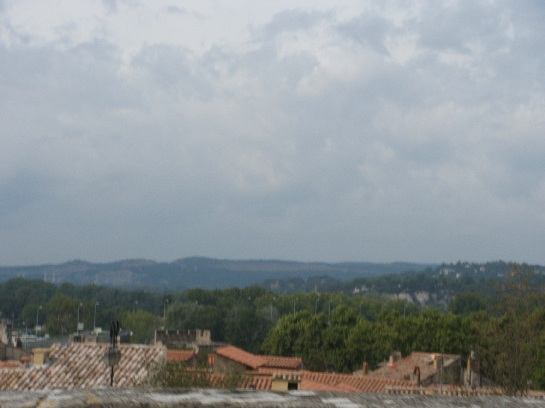 View from Avignon, France