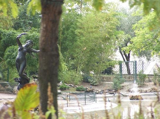 Statue in the park in Avignon, France