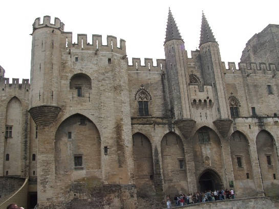 The castle at Avignon, France