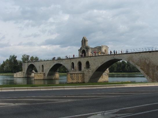The bridge of Avignon made famous by the song, Avignon, France
