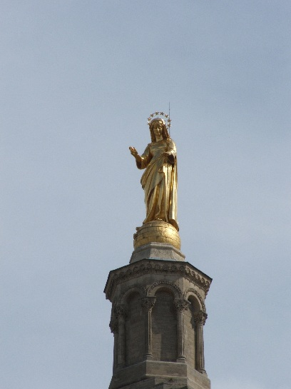 The Madonna on the Cathedral in Avignon, France