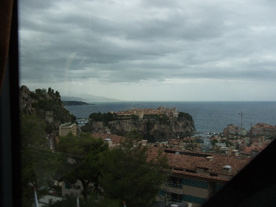 Overlooking Monte-Carlo, Monaco from France