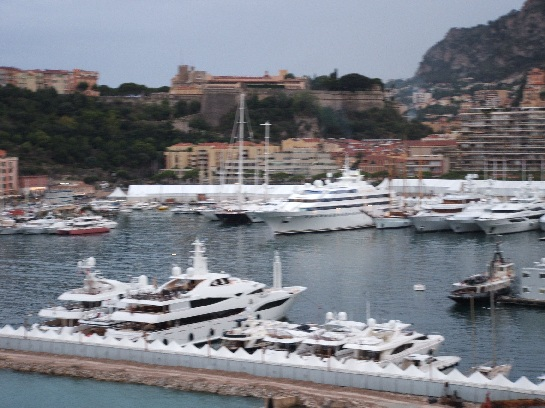 Monte-Carlo Harbour with the Castle in the background, Monte-Carlo, Monaco