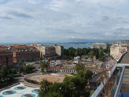 View from the hotel in Nice, France