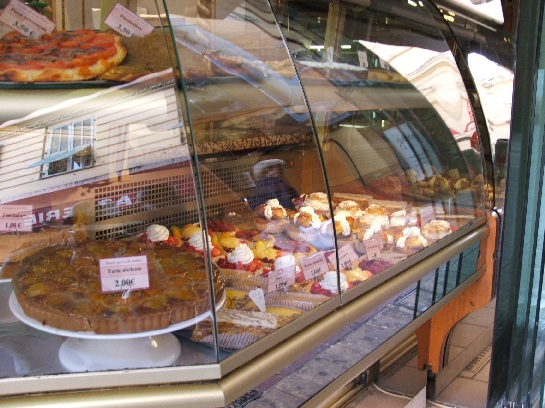 The food shops in Nice, France