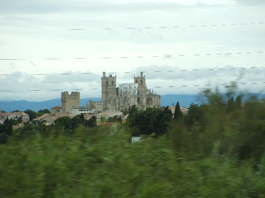 The countryside travelling west to Carcassonne, France