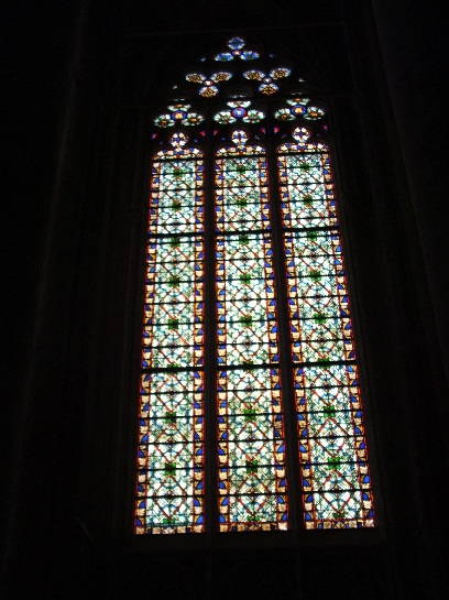 Inside the church in Carcassonne, France