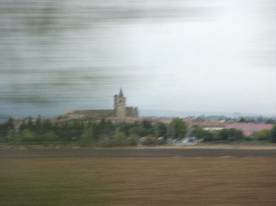 French countryside travelling north west to Biarritz, France