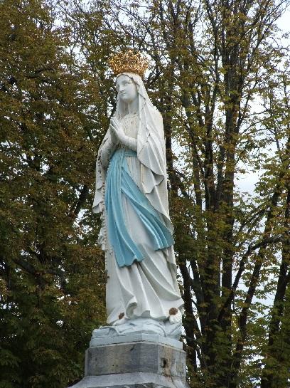 Madonna Statue at Lourdes, France