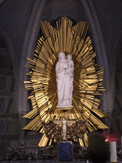 Inside the Cathedral at Lourdes, France