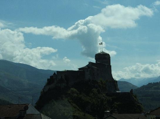 The Castle overlooking Lourdes, France