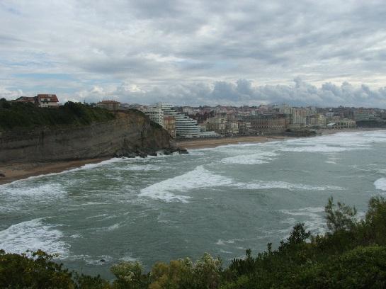 Atlantic ocean and Biarritz, France