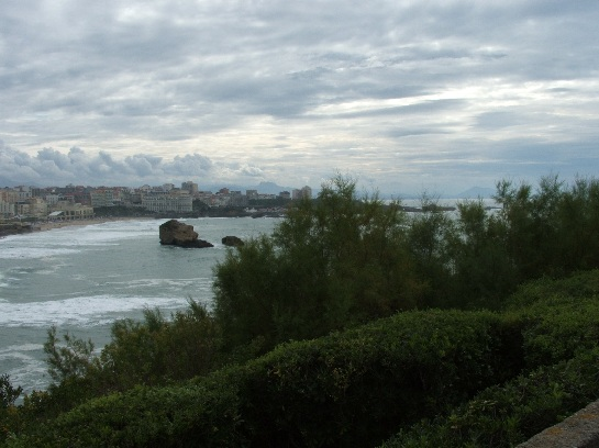 Atlantic ocean and Biarritz, France