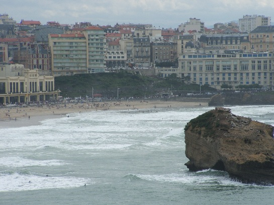 The beach at Biarritz, France