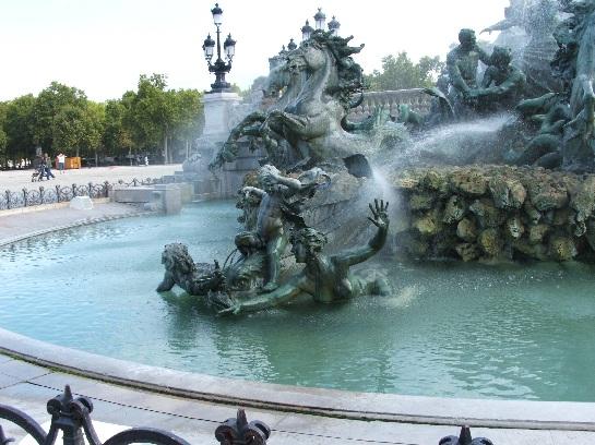 Monuments on the Esplanade des Quinconces, Bordeaux, France
