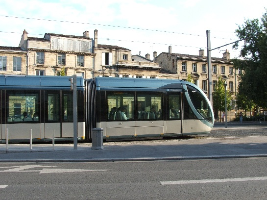 Electric Trams in Bordeaux, France