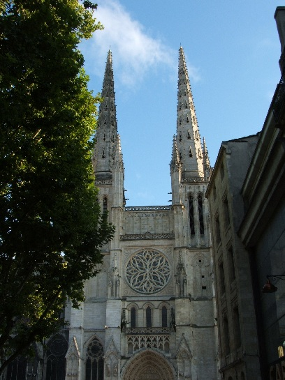 Cathedral which they were laser cleaning in Bordeaux, France