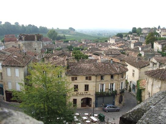 View over St. Emilion, France