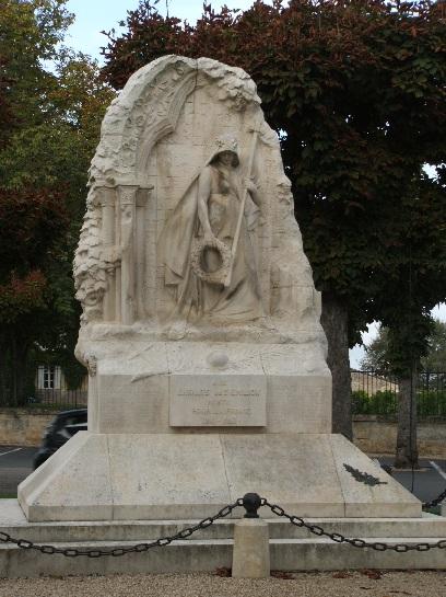 World War 1 Monument in St. Emilion, France