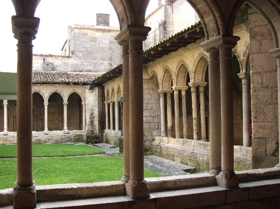 The cloister of the church at St. Emilion, France