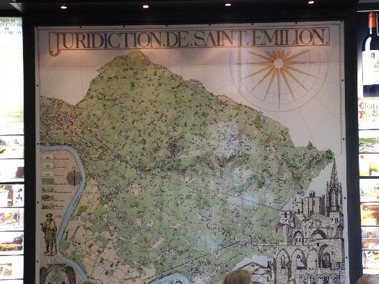 Map of St. Emilion, France